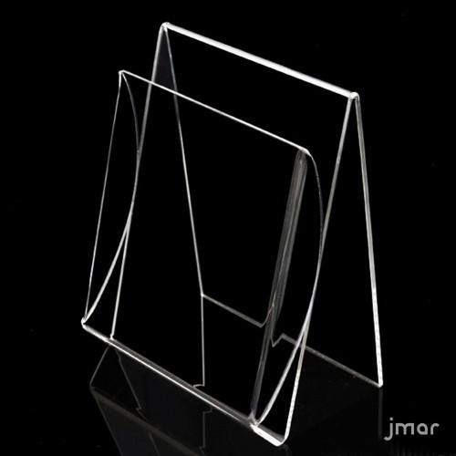 Porta brochure plexiglass da banco