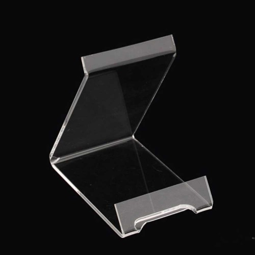 Acrylic plate stand single piece