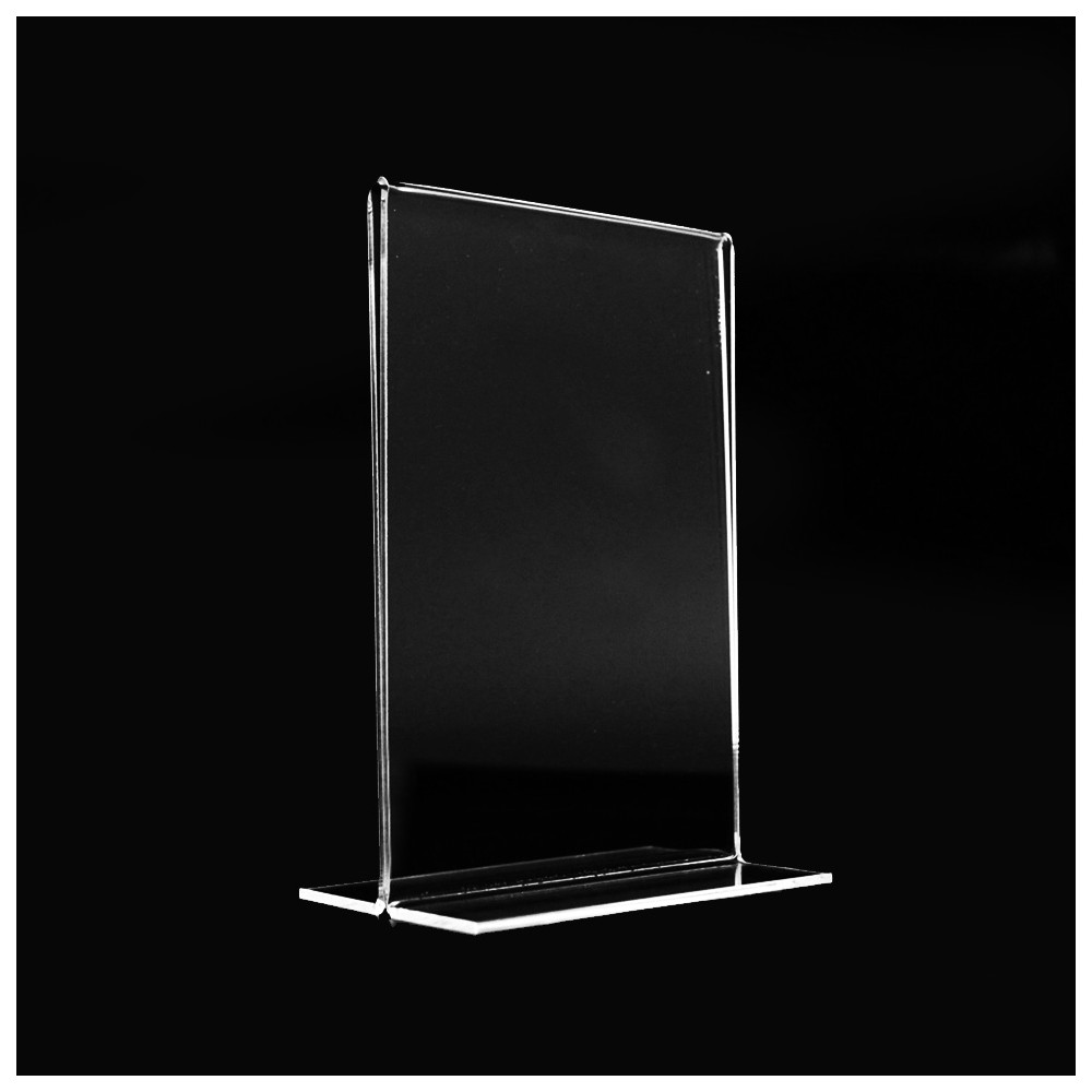 exposant double dans plaxiglass transparent cadre photo double face. Black Bedroom Furniture Sets. Home Design Ideas