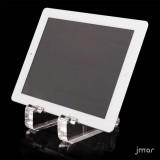 Supporto da tavolo per tablet in plexiglass trasparente
