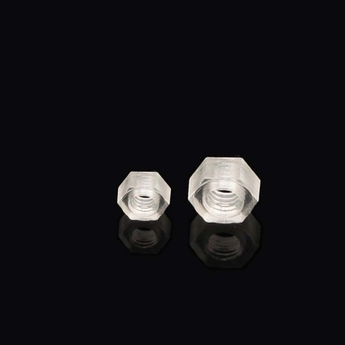Transparent Plex Nuts JMAR