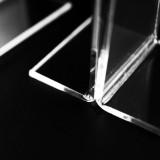 Portafoto Bifacciale trasparente per listini e menù. Espositore da tavolo JMAR